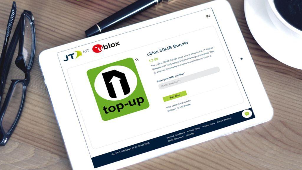 JT IoT Ublox SIM IoT Card TopUp Website